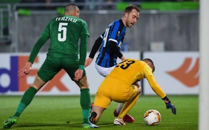 Ludogorets-Inter 0-0 LIVE, palo di Sanchez