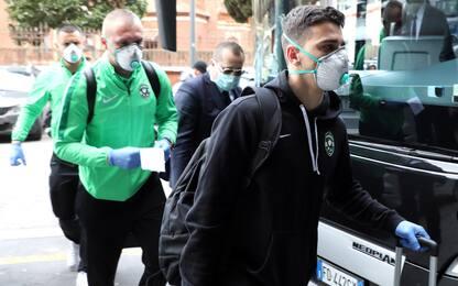 Ludogorets a Milano con inutili maschere e guanti