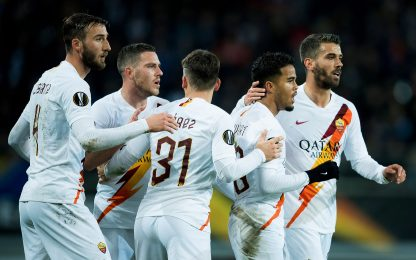 Gent-Roma 1-1 LIVE: Kluivert risponde a David