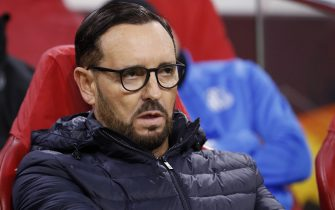 Getafe CF coach Jose Bordalas during the UEFA Europa League round of 32 second leg match between Ajax Amsterdam and Getafe CF at Johan Cruijff Arena on February 27, 2020 in Amsterdam, The Netherlands(Photo by ANP Sport via Getty Images)