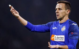 Nemanja Maksimovic of Getafe CF during the UEFA Europa League round of 32 second leg match between Ajax Amsterdam and Getafe CF at Johan Cruijff Arena on February 27, 2020 in Amsterdam, The Netherlands(Photo by ANP Sport via Getty Images)