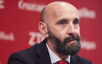 SEVILLE, SPAIN - JUNE 05: Sports director, Monchi, addresses the media at Lebreros Hostel on June 05, 2019 in Seville, Spain. (Photo by Quality Sport Images/Getty Images)