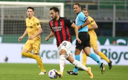 Milan-Bodo Glimt 1-1 LIVE: pareggia Calhanoglu