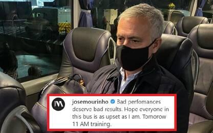 Spurs ko, Mourinho furioso con i suoi su Instagram