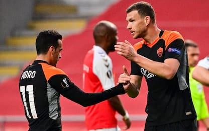 Dzeko-gol, colpo Roma a Braga: 2-0 all'andata