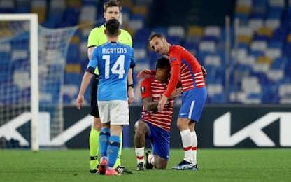 Napoli fuori dall'Europa, non basta 2-1 al Granada