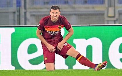 Dzeko esce con problema muscolare: Milan a rischio