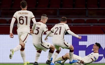 Roma tutta cuore e rimonta: battuto 2-1 l'Ajax