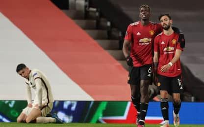 La Roma dura solo 45', lo United vince 6-2