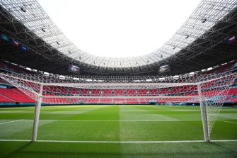BUDAPEST, HUNGARY - JUNE 27: General view inside the stadium prior to the UEFA Euro 2020 Championship Round of 16 match between Netherlands and Czech Republic at Puskas Arena on June 27, 2021 in Budapest, Hungary. (Photo by Angel Martinez - UEFA/UEFA via Getty Images)