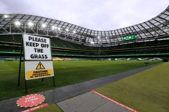 A general view of the stadium ahead of the 2022 FIFA World Cup Qualifying match at the Aviva Stadium, in Dublin, Ireland. Picture date: Saturday March 27, 2021. (Photo by Brian Lawless/PA Images via Getty Images)