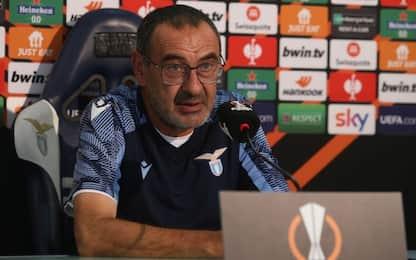 """Sarri: """"Lazio-Inter? Io fermato per un dito..."""""""