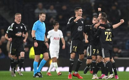 Gol capolavoro di Kous al Tottenham. VIDEO
