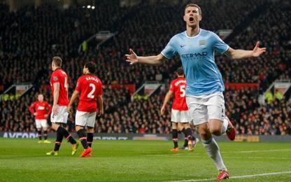 Diavolo Dzeko quando vede lo United: i precedenti