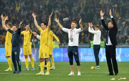 L'Ucraina vola a Euro 2020, dilaga l'Inghilterra