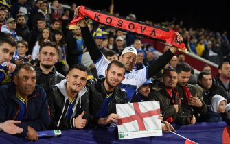 PRISTINA, KOSOVO - NOVEMBER 17:  Fans enjoy the pre-match atmosphere prior to the UEFA Euro 2020 Qualifier between Kosovo and England at the Pristina City Stadium on November 17, 2019 in Pristina, Kosovo. (Photo by Michael Regan/Getty Images)
