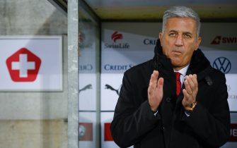 Switzerland's head coach Vladimir Petkovic gestures prior to the Euro 2020 football qualification group D match between Switzerland and Georgia at Kybunpark stadium on November 15, 2019 in St. Gallen. (Photo by STEFAN WERMUTH / AFP) (Photo by STEFAN WERMUTH/AFP via Getty Images)