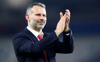 CARDIFF, WALES - NOVEMBER 19: Wales Manager Ryan Giggs celebrates after winning the UEFA Euro 2020 qualifier between Wales and Hungary so at Cardiff City Stadium on November 19, 2019 in Cardiff, Wales. (Photo by Chloe Knott - Danehouse/Getty Images)