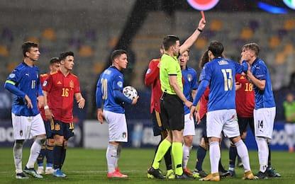 L'Italia vede rosso: 2 espulsi e 0-0 con la Spagna