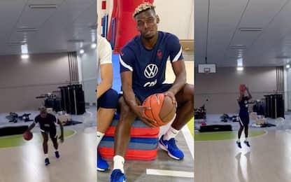 Pogba prepara l'Europeo... giocando a basket