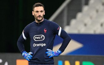 Hugo Lloris before the world cup qualification match between France and Ukraine at the Stade de France on wednesday march 24, 2021. Paris Saint Denis. France.//04SAIDICHRISTOPHE_0304.16520/2103250620/Credit:CHRISTOPHE SAIDI/SIPA/2103250828