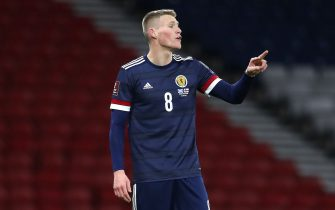 Scotland's Scott McTominay during the 2022 FIFA World Cup Qualifying match at Hampden Park, Glasgow. Picture date: Wednesday March 31, 2021.