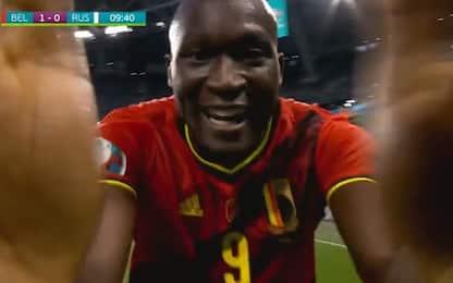 Belgio, segna Lukaku: la dedica a Eriksen