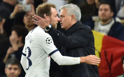 """Mourinho: """"Ho pianto per Eriksen, ora festeggiamo"""""""