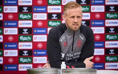"""Schmeichel, visita a Eriksen: """"Bello vederlo"""""""