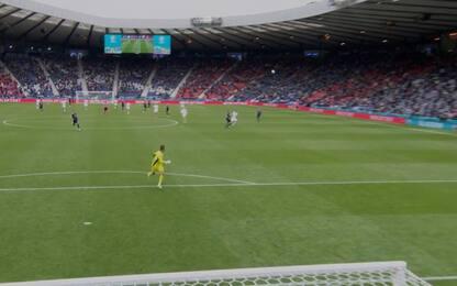 Schick, gol capolavoro: segna da metà campo. VIDEO