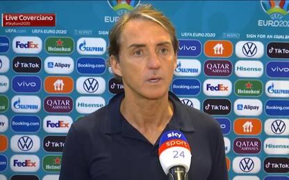 """Mancini: """"Dubbio Toloi-Di Lorenzo. Verratti è ok"""""""