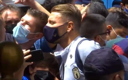 Italia-Galles, azzurri arrivati in hotel a Roma