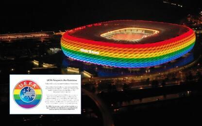 Polemiche per no a Monaco, Uefa diventa arcobaleno