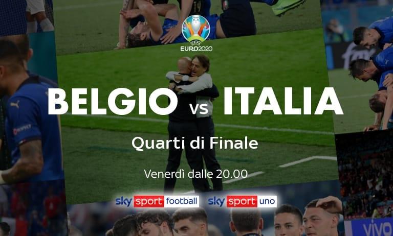 Belgio-Italia su Sky Sport