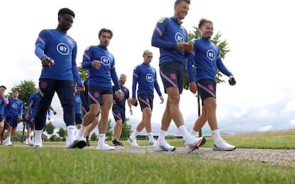 Inghilterra-Danimarca, Saka si allena: le news