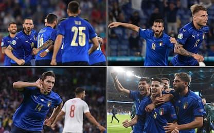 Le facce degli eroi: come esulta l'Italia Campione