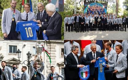 L'Italia campione ricevuta da Mattarella e Draghi