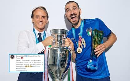 """Bonucci ringrazia Mancini: """"Hai unito l'Italia"""""""