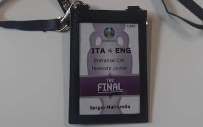 Finale Euro 2020, pass Mattarella tra i cimeli