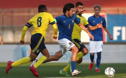 Italia, che beffa: la Svezia trova l'1-1 al 92'