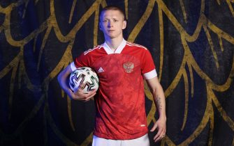 MOSCOW, RUSSIA - JUNE 08: Maksim Mukhin of Russia poses during the official UEFA Euro 2020 media access day at The Novogorsk Training Center on June 08, 2021 in Moscow, Russia. (Photo by Joosep Martinson - UEFA/UEFA via Getty Images)