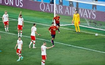 Alvaro Morata of Spain celebrates his goal during the UEFA Euro 2020, Group E football match between Spain and Poland on June 19, 2021 at La Cartuja stadium in Seville, Spain - Photo Joaquin Corchero / Spain DPPI / DPPI / LiveMedia