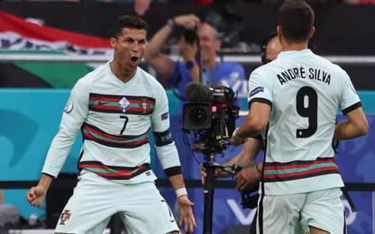 Doppietta di CR7, 3-0 del Portogallo all'Ungheria