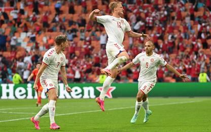 Danimarca ai quarti: 4-0 al Galles
