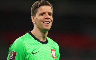epa09109258 Wojciech Szczesny of Poland during the FIFA World Cup 2022 qualifying soccer match between England and Poland in London, Britain, 31 March 2021.  EPA/Catherine Ivill / POOL