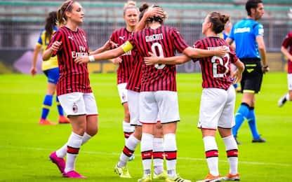 Serie A donne: Milan solo in testa, Roma forza 4