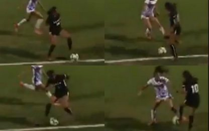 Calcio femminile, un numero alla Ronaldinho. VIDEO