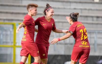 La Roma femminile infila la 4^: Sassuolo ko 2-1