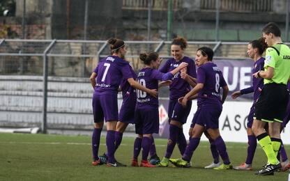 Fiorentina-Inter donne 4-0: viola al secondo posto