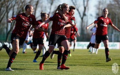 Milan ribalta Roma 3-2. Doppietta Thorvaldsdottir